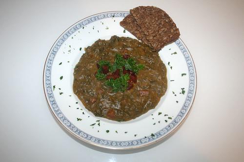 35 - Kartoffel-Grünkohl-Eintopf mit Chorizo / Potato borecole stew with chorizo - Serviert