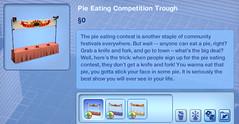 Pie Eating Contest Trough