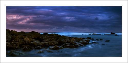 longexposure sunset beach water rocks waves pentax portmacquarie