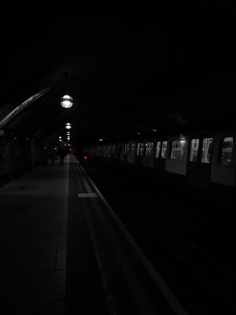 Red Filter at Baker Street Station