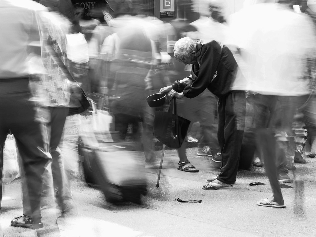 Image result for THE BEGGAR ON THE STREET  bw photo