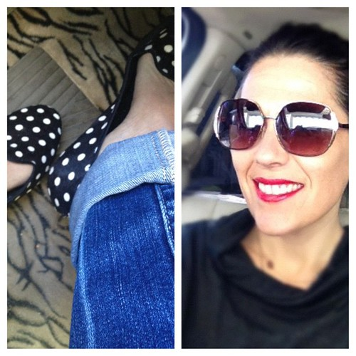 Running errands in black, white and red!! #elfcosmetics @gapstyle @targetstyle