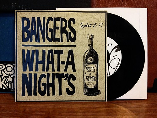 "Bangers / What-A-Night's - Split 7"" by Tim PopKid"