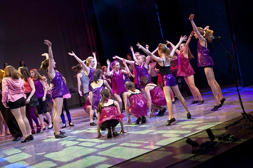 The dancers give it their all in Viva La Diva - a scene from Edinburgh Gang Show 2012. Photo © Scott Parker