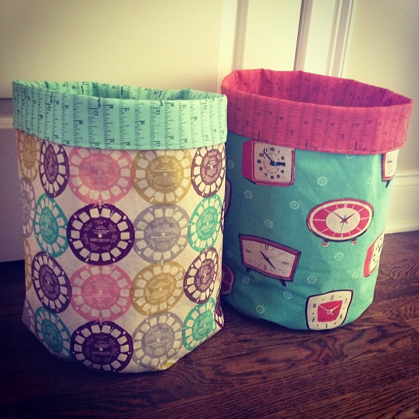 Second fabric bucket complete!!!