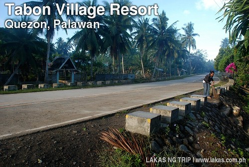 National Highway in front of Tabon Elementary School in Quezon, Palawan