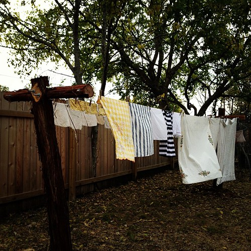 Among the big, important things, I am very grateful for my new and permanent clothesline.