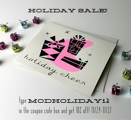 handmade retro gifts and stationery holiday sale