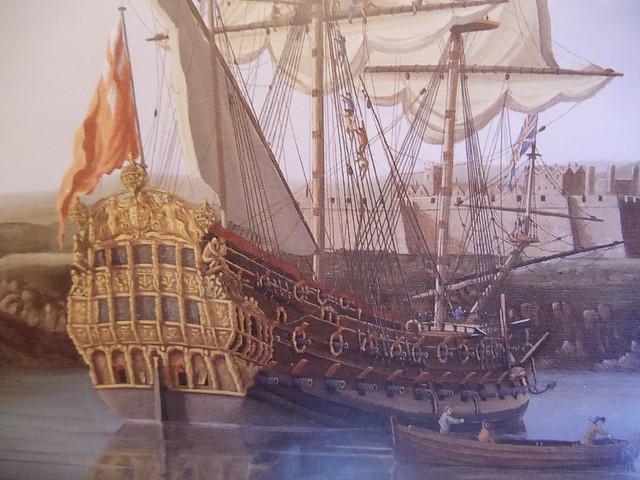 55 HMS Lenox - Van de Velde  painting6