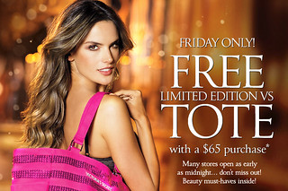 Victorias Victoria's Secret Black Friday Thanksgiving Free Tote Shipping 2012