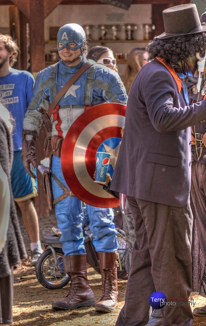 Captain America At The Maryland Renaissance Festival