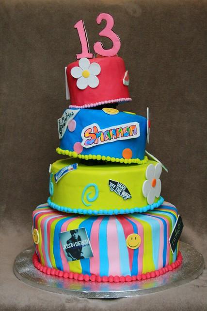 13th bday cake
