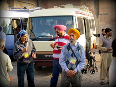 Sikh Guests Enjoying 'Kulfi' Near Lahore Fort Punjab