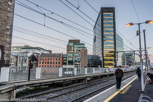 Dart Station At Grand Canal Dock (Dublin)