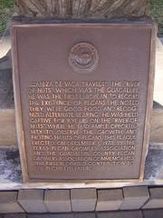 Photo of Justus Gombert, Los Nogales, Joseph Zorn, and Ben McCulloch black plaque