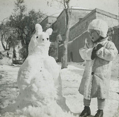 Afraid of Snow Man by Center for Jewish History, NYC