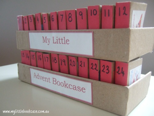 My Little Advent Bookcase (Photo from My Little Bookcase)