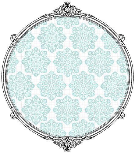 Batik Flower Snowflakes -  free printable paper SAMPLE