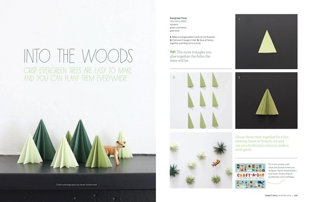 3-D Trees in Sweet Paul Magazine