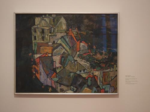 DSCN9492 _ Stadtende (Häuserbogen III), um 1917, Egon Schiele, Neue Galerie, Graz