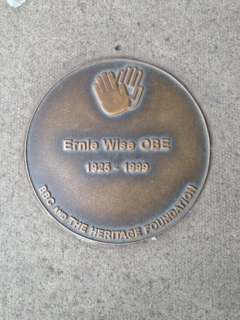 Ernie Wise blue plaque - Ernie Wise OBE   1925-1999