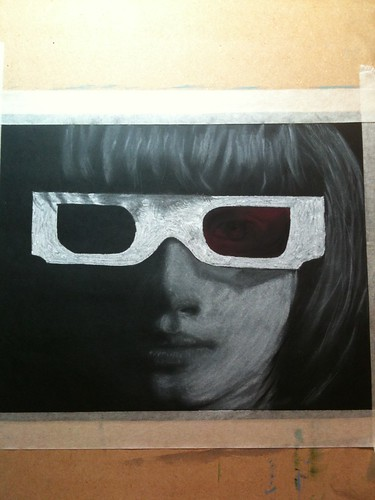 Jessie wearing 3D glasses - finished 29.11.12