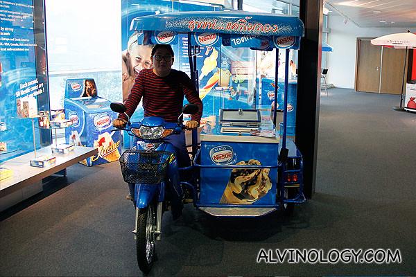 Me on a Nestle ice-cream bike