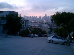 Sunset high above San Francisco (HTC Incredible).