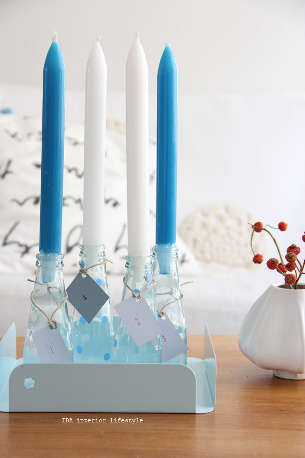 DIY: advent candles holders
