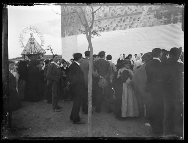 Romería de la Bastida hacia 1910. Fotografía de Santiago Relanzón Almazán. Archivo Municipal, Ayuntamiento de Toledo