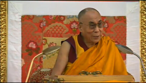 His Holiness the Great 13th Dalai Lama teaching about visions seen during intiations, 18 Great Stages of the Path Commentaries, webcast, Dharamasala, India by Wonderlane