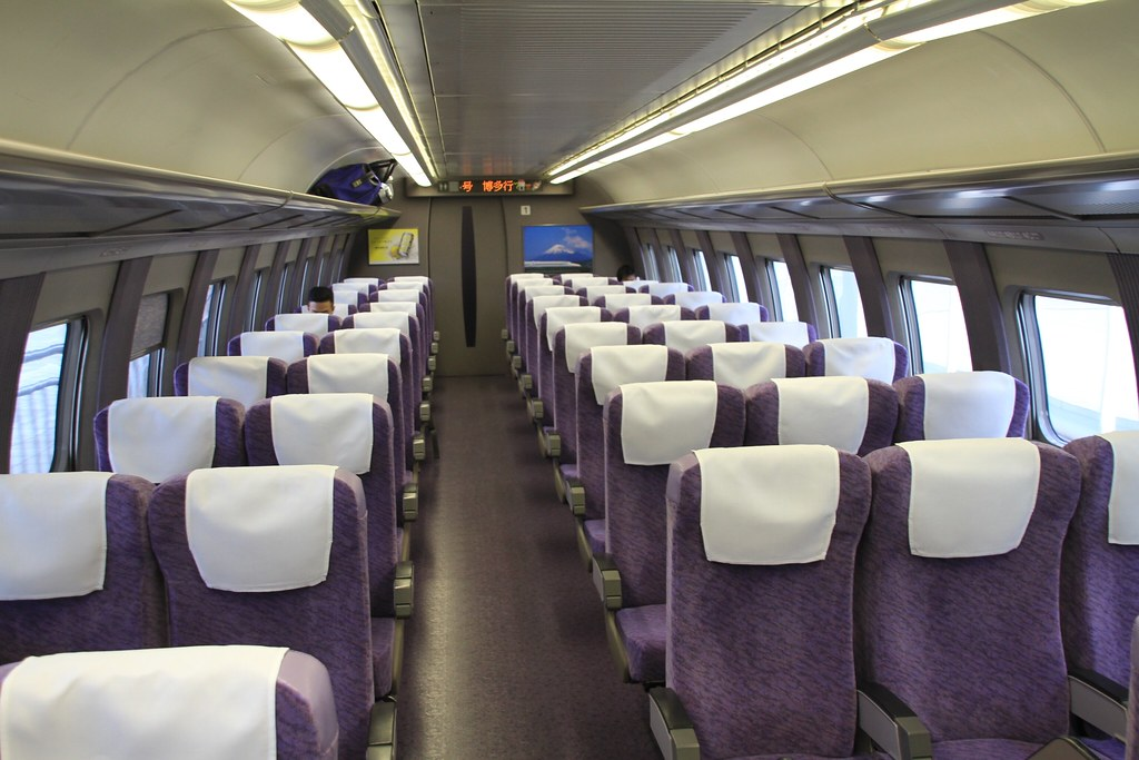JR West 500 series Shinkansen (1995-98) interior