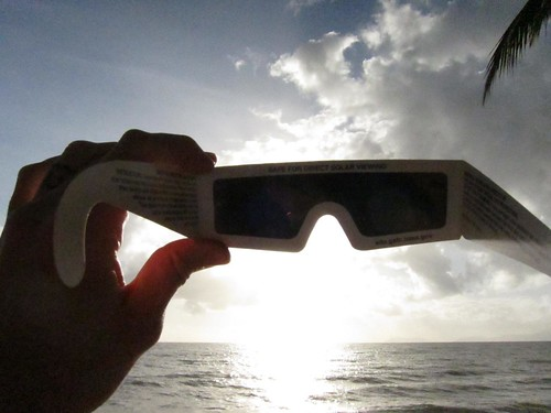 The View Through Eclipse Glasses