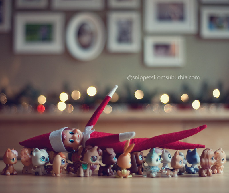 Being Carried Off Elf on the Shelf. Click for more ideas! #elfontheshelf