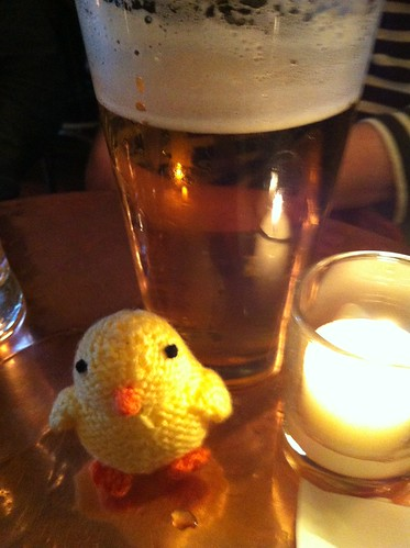 Chick and beer