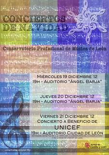 CONCIERTOS DE NAVIDAD DEL CONSERVATORIO DE LEÓN - 19, 20 Y 21 DICIEMBRE´12