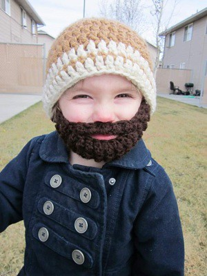 bearded crochet hat