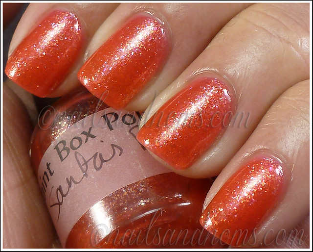Paint Box Polish - Santa's Britches 2