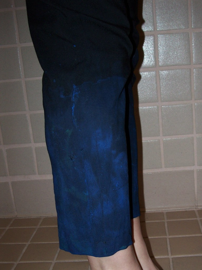 Painted pants detail