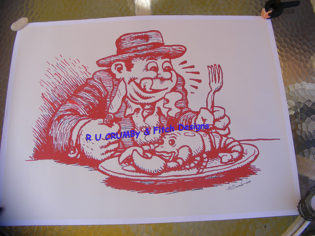 Robert crumb signed red lobsterman 22 x 15 5 limited edition of 6