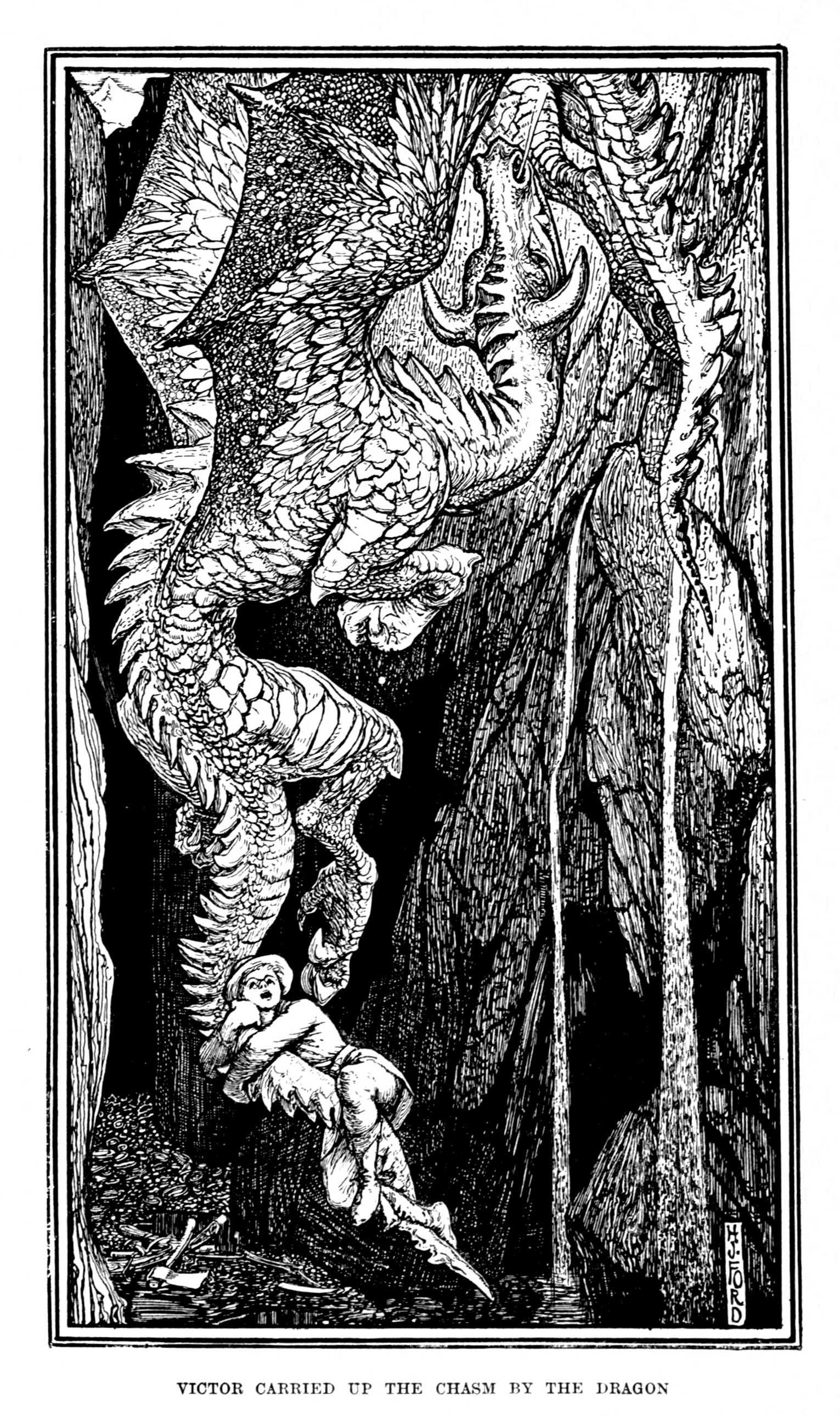 Henry Justice Ford - The red book of animal stories selected and edited by Andrew Lang, 1899 (illustration 5)