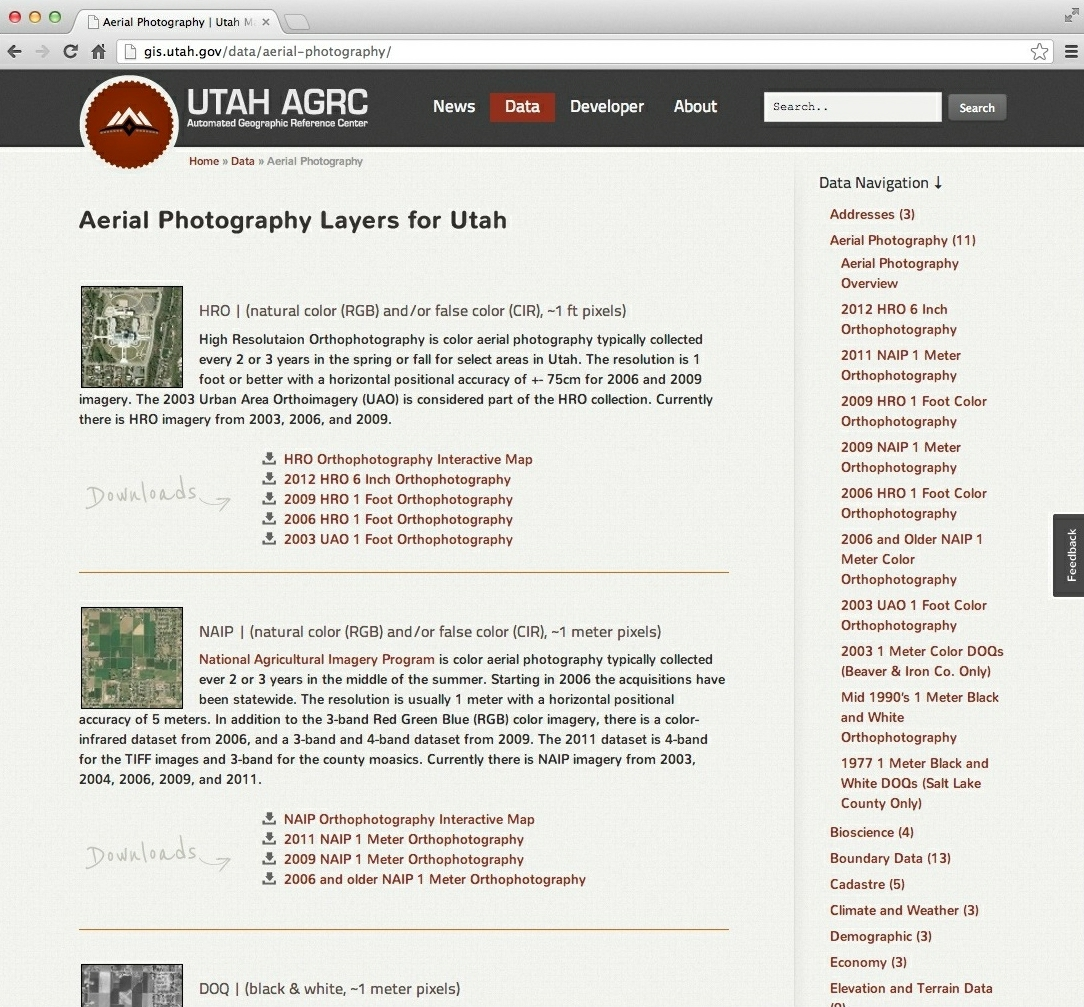 Aerial Photography | Utah Mapping Portal