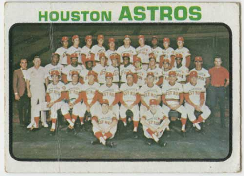 1973 Topps Houston Astros Team Card