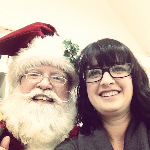 Santa came to visit me today and insisted that we take a picture.