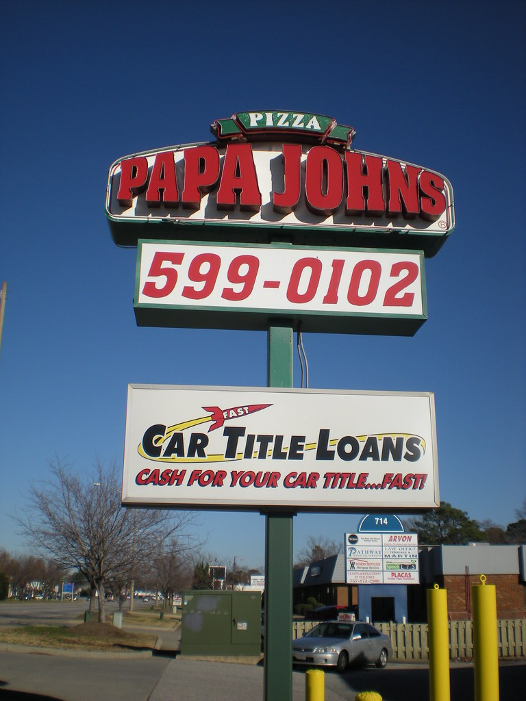 Papa John's/Fast Auto Loans, Inc. sign
