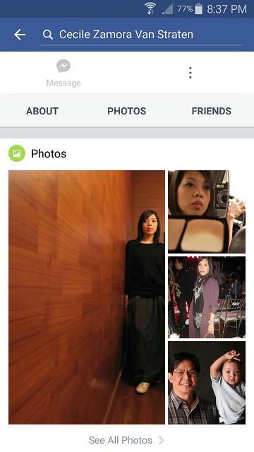 Facebook impostor account