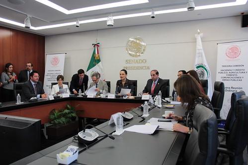 El día 16 de agosto del 2016 se llevó a cabo en el Senado de la República la novena reunión de trabajo de la Tercera Comisión de la Comisión Permanente. Hacienda y Crédito Público, Agricultura y Fomento, Comunicaciones y Obras Públicas