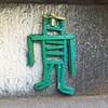 "Sikman - Last remaining piece of street art at 190 Bowery (Germania Bank Building) in LES. Located in the top-flight of the ""N"" in NEKST. #stikman #notstickman #streetart #ny #nyc #190bowery #germaniabankbuilding #wood #sticks #assemblage"