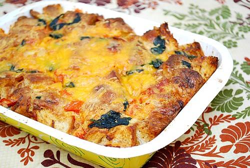 What's Cookin, Chicago?: Spinach Tomato Strata
