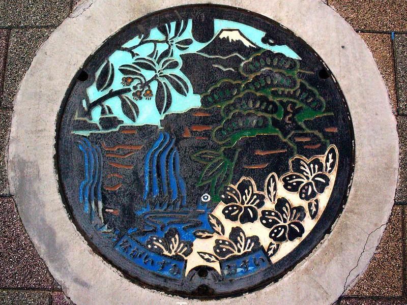 Nagaizumi town Shizuoka pref, manhole cover (静岡県長泉町のマンホール)